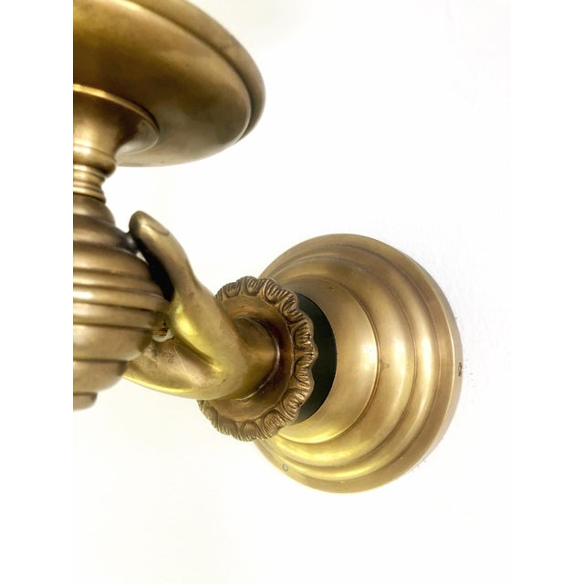 Metal Pair of Italian Hand Brass Sconces, 1960s For Sale - Image 7 of 11