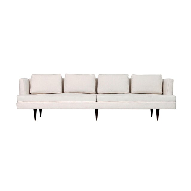 Large Edward Wormley for Dunbar Upholstered Sofa For Sale - Image 13 of 13