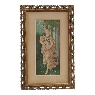 1888 After Botticelli's Primavera: Flora, the Goddess of Flowers and Spring Painting by G. Prosdocini, Framed For Sale