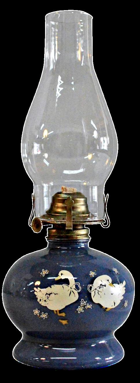 Vintage Goose Pottery Kerosene Lamp   Image 1 Of 8