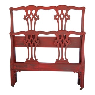 1940's Kindel Chippendale Style Twin Headboard/Footboard Set - 2 Pieces For Sale