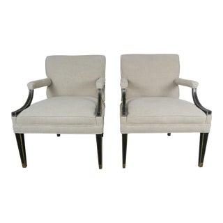 Pair of Italian Regency Style Armchairs