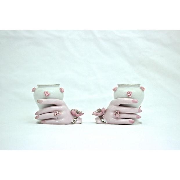 Holding Hands Vases - A Pair - Image 2 of 7