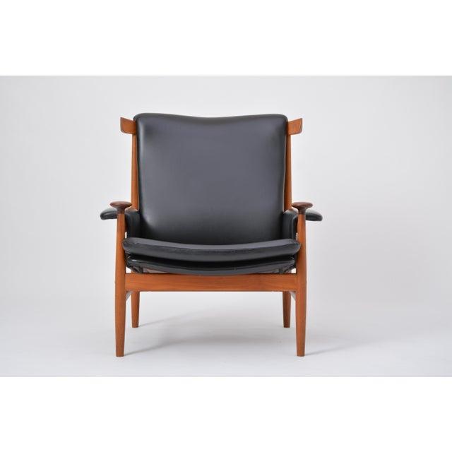 Animal Skin Black Reupholstered Bwana Model 152 Lounge Chair by Finn Juhl for France & Son For Sale - Image 7 of 12