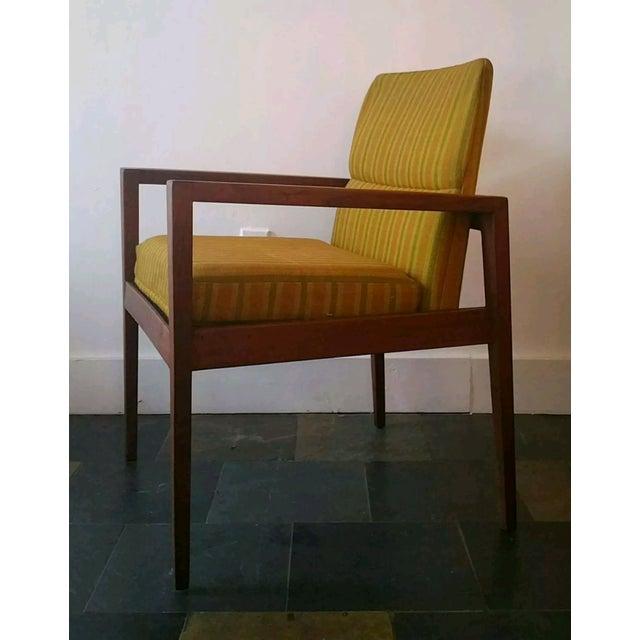 Jens Risom Walnut Cube Desk Chair - Image 2 of 7