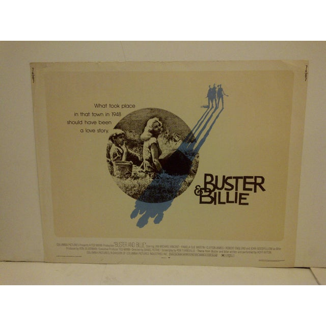"A vintage movie poster ""Buster & Billie,"" starring Jan Michael Vincent. 74/67 Copyright 1974, Columbia Pictures. The..."