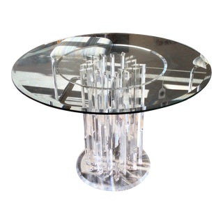 Glass & Lucite Prism Table For Sale