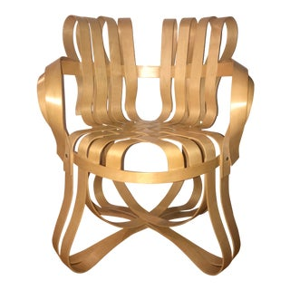 "1990s Vintage Frank Gehry for Knoll ""Cross Check"" Chair For Sale"