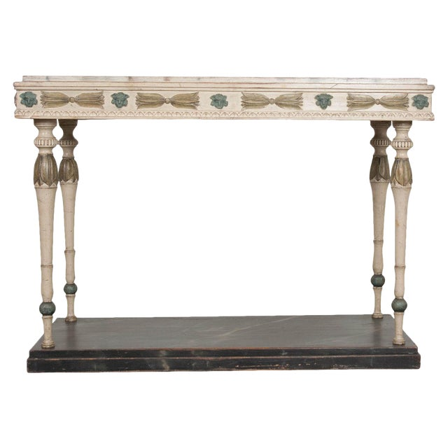 Swedish 19th Century Carved and Painted Console For Sale