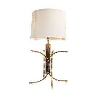 Modernistic Brass Lamp