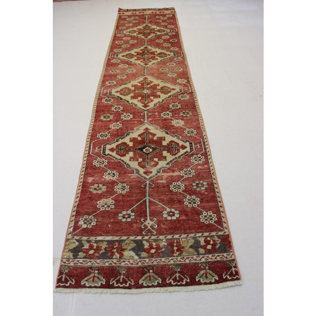 "Vintage Turkish Anatolian Runner - 2'10"" X 13' - Image 2 of 7"