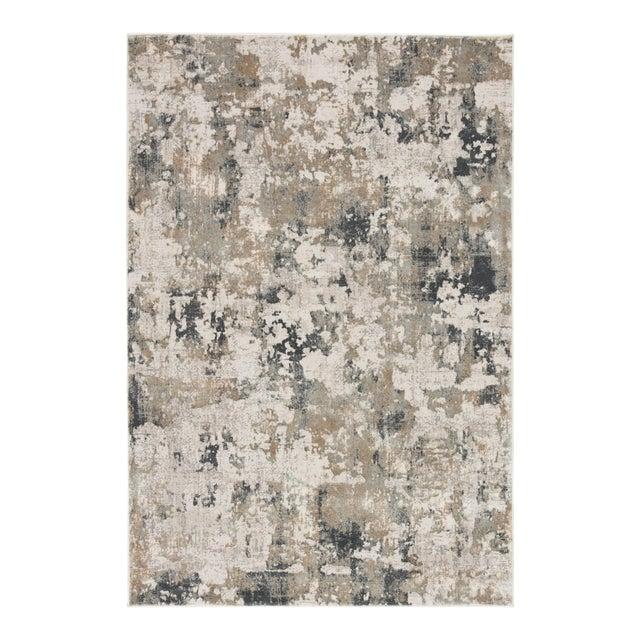 """Jaipur Living Lynne Abstract White Gray Runner Rug 2'6""""X8' For Sale"""