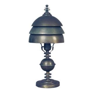 Vintage Markel Machine Age Table Lamp For Sale