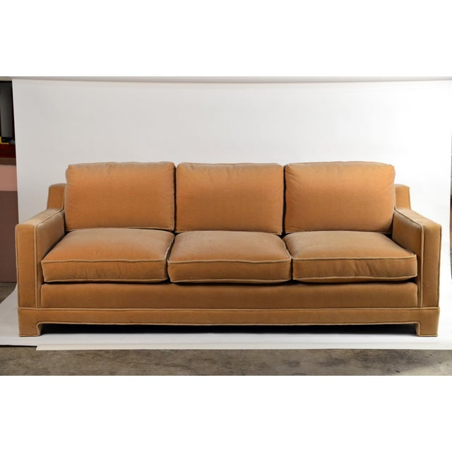 1960s Impeccable Mohair Designer Sofa in the Style of Jean-Michel Frank For Sale - Image 5 of 10