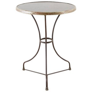 French Belle Époque Iron and Marble Bistro Cafe Table For Sale