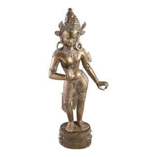 Thai Deity Brass Statue For Sale