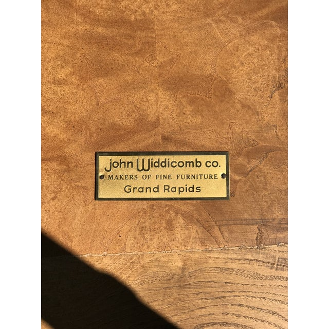 John Widdicomb 1970s Mid-Century Modern John Widdicomb Walnut and Faux Bamboo Side Table For Sale - Image 4 of 5