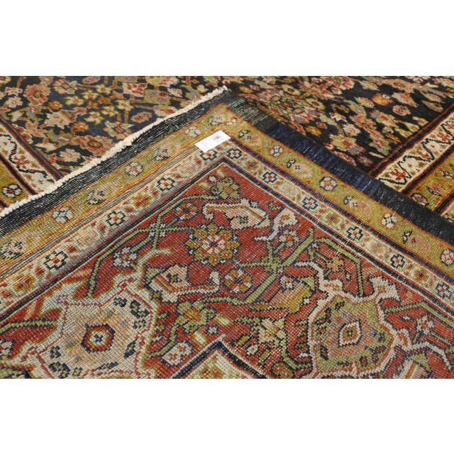 Late 19th Century Late 19th Century Antique Persian Sultanabad Palace Rug- 10′2″ × 16′4″ For Sale - Image 5 of 9