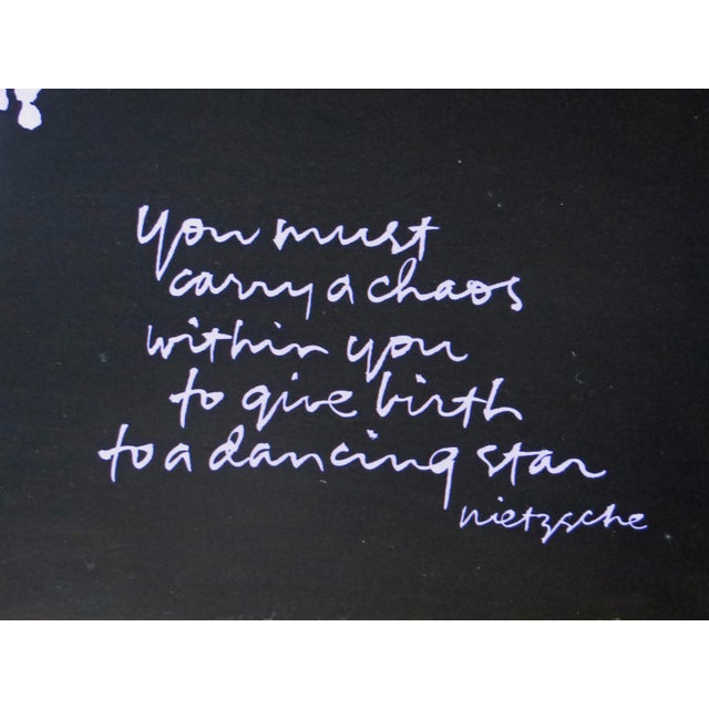 Original Dancing Star Nietzsche Quote Serigraph By Sister Mary