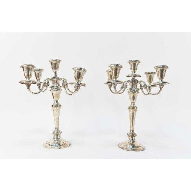Metal Gorham Sterling Silver 5 Light Candelabras - a Pair For Sale - Image 7 of 7