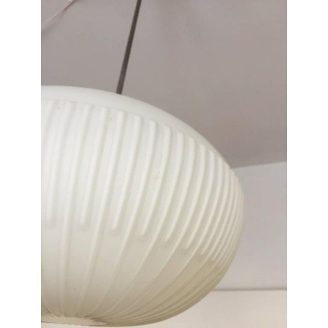 Opaline Glass Pendants with Structured Spheres For Sale - Image 5 of 10