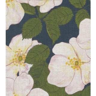 Hedgegrow Rosa Fabric in Indigo Blue, Sample For Sale