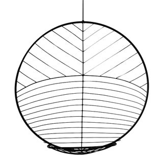 Bubble Hanging Swing Chair - Star Pattern - Black For Sale
