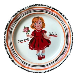 Nathalie Lete French Girl Plate