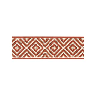 Scalamandre Medina Embroidered Tape, Carnelian For Sale