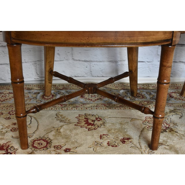 Drexel Heritage Faux Bamboo Chairs - A Pair For Sale In New York - Image 6 of 11