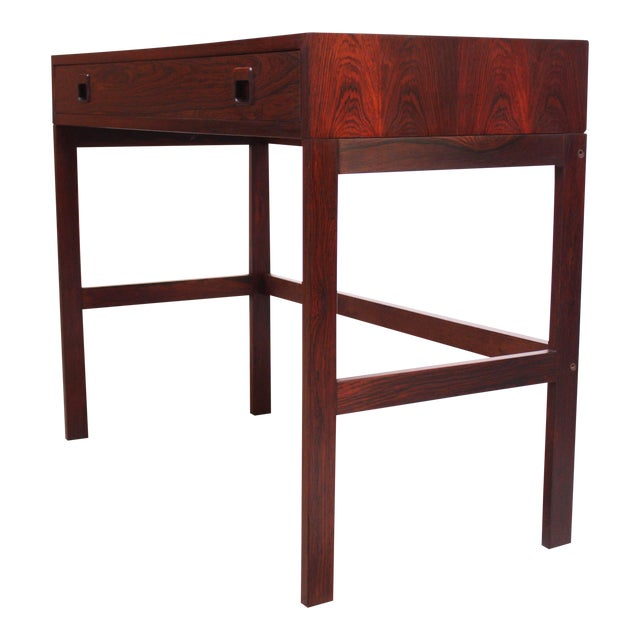 Diminutive Danish Modern Rosewood Desk by EJM Skive For Sale
