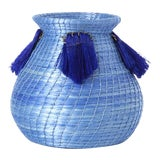 Image of Mini Fanned Out Vase Bulbous Denim For Sale