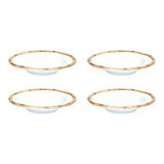 Bamboo Soup Bowl in Natural, Set of 4 For Sale