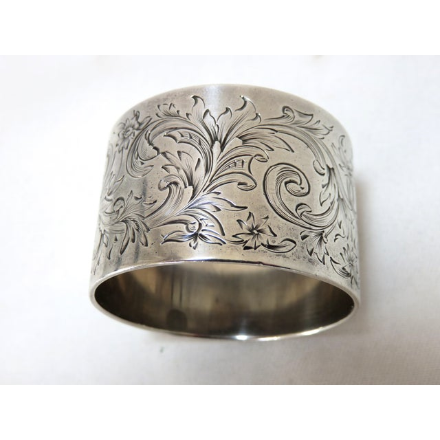 Large Antique Sterling Silver Napkin Ring For Sale - Image 4 of 5