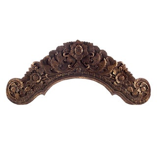 Hand Carved Floral Wooden Doorway Decoration