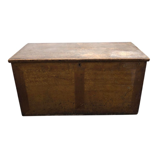 Late 19th Century Primitive Blanket Chest For Sale