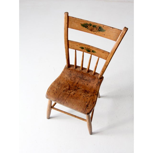 Antique Primitive Chair For Sale - Image 6 of 10