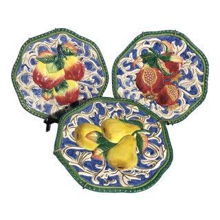 Fitz & Floyd Florentine Fruit Canapé Wall Plates - Set of 3