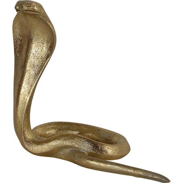 Cobras Gold Statues - Set of 3 For Sale - Image 10 of 12