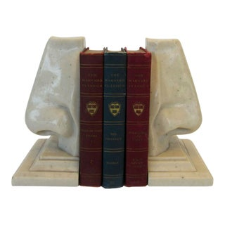 Pair of Italian Marble Nose Bookends For Sale