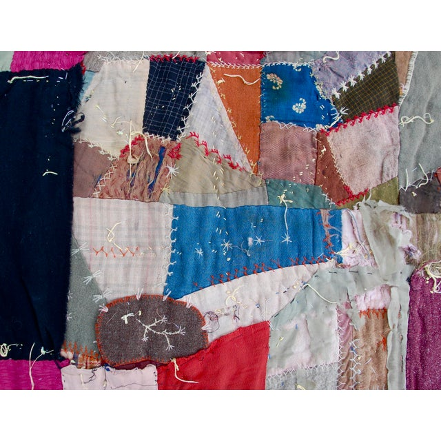 Silk 19th Century American Crazy Quilt For Sale - Image 7 of 8