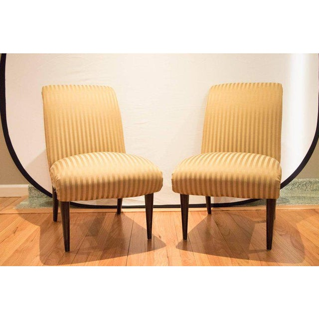 Viennese Biedermeier Style Art Deco Flare Slipper Chairs - a Pair - Image 2 of 10