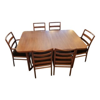 T.H. Robsjohn Gibbings Mid-Century Extendable Dining Set - Set of 6