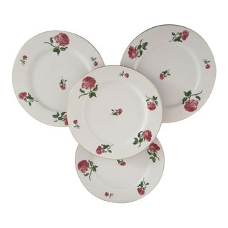 Vintage Polo Ralph Lauren Rose Design Dinner Plates - Set of 4 For Sale