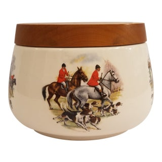 Peterson's Ltd., Italy Tobacco Humidor With Hunting Scenes on Each Side For Sale