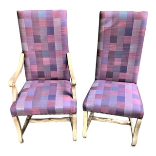 Baker Country French Style Dining Chairs - 2 Pieces For Sale
