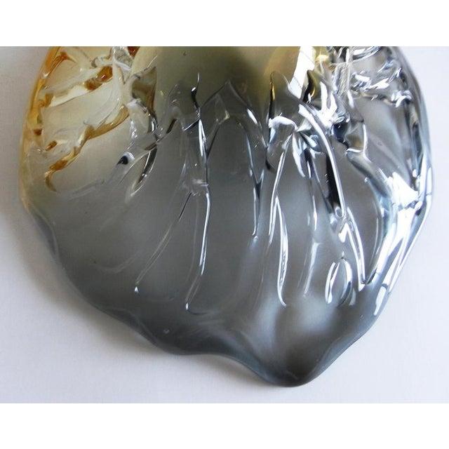 2010s Boho Chic Glass Leaf Shape Bowl For Sale - Image 5 of 7