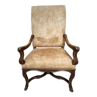 19th Century Carved Regence Armchair For Sale
