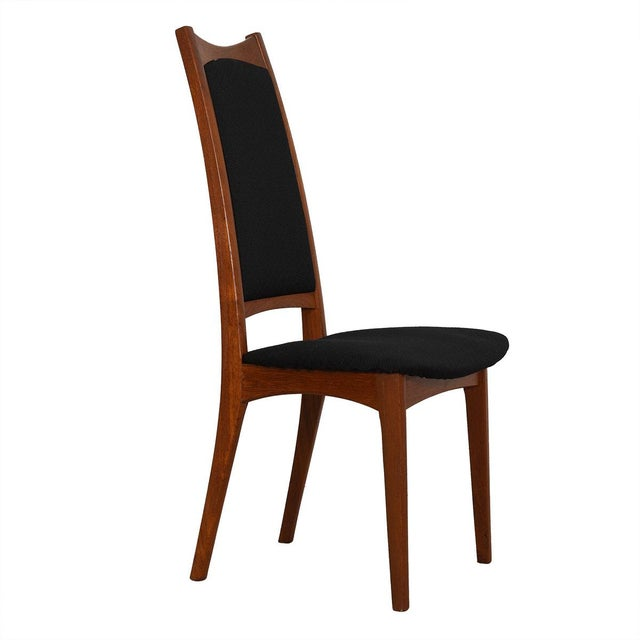 Moreddi Danish Teak Tall Back Dining Chairs W/ Black