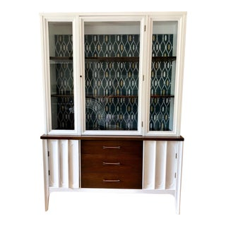 Repainted White Mid-Century China Cabinet